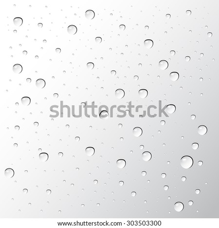 water drops vector on gray background - stock vector