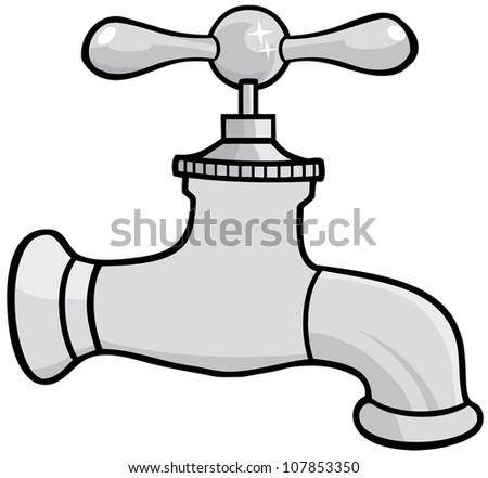 Water Faucet .Vector Illustration - stock vector