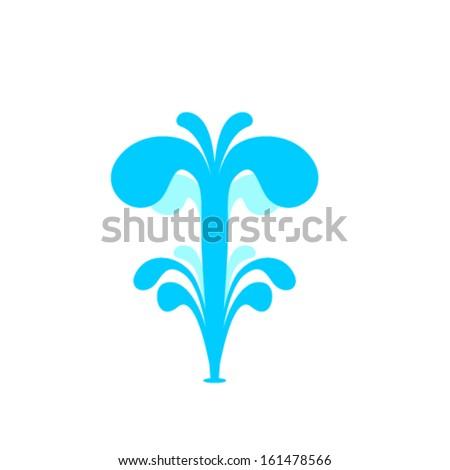 water fountain vector design stock vector 161478566 shutterstock rh shutterstock com free vector water fountain Water Fountain Drawing