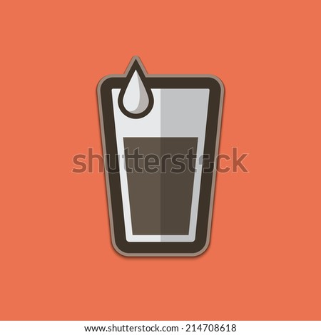 Water Glass Icons Vector - stock vector