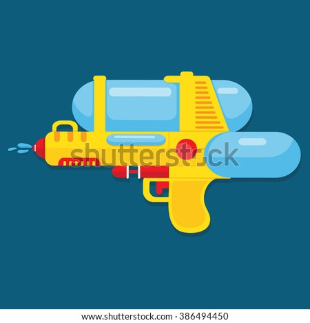 Water gun vector design for summer. - stock vector