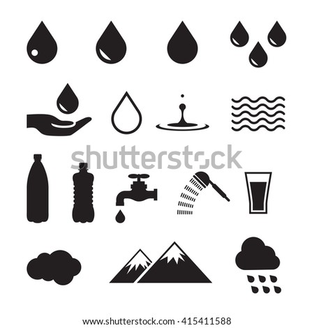 Water icon - stock vector