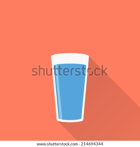 water icon , flat design , vector illustration - stock vector