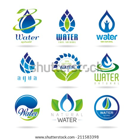 Water icon set - 2 - stock vector