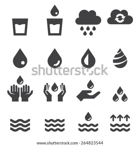 water icon set - stock vector