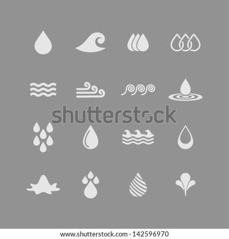 Water icons for app - stock vector