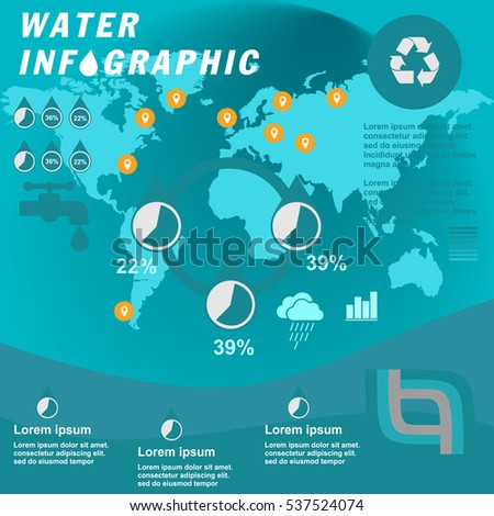 Water Resources Consumption Infographics Presentation Template ...