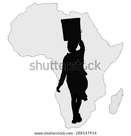african american woman and tree motif royalty free stock
