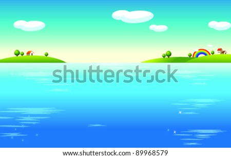 Water Landscape and houses