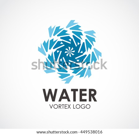 Water Natural Vortex Abstract Vector Logo Stock Vector 449538016