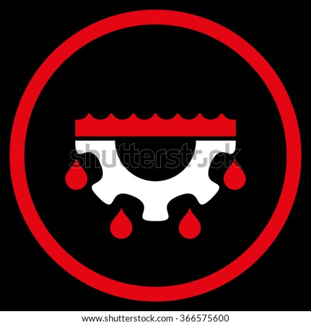 Water Service vector icon. Style is flat circled symbol, color, rounded angles, white background. - stock vector