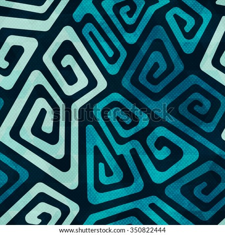 Water spiral. Seamless pattern. - stock vector