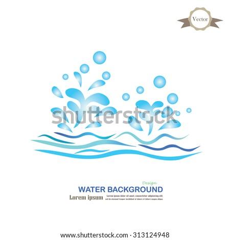 Water Splash.water concept.vector illustration. - stock vector