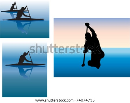 Water sports - stock vector