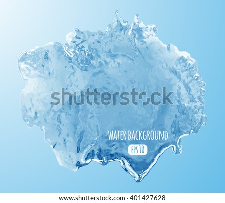Water surface background. Clear blue water texture. Vector illustration - stock vector