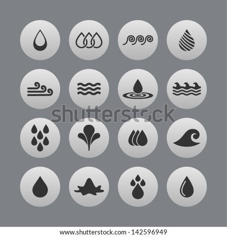Water Symbols Stock Vector 142596949 Shutterstock
