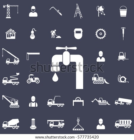 Water tap icon. Construction icons universal set for web and mobile