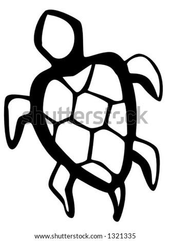 water turtle - stock vector