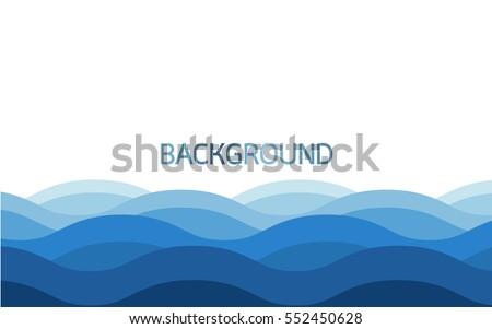 Water wave background , Blue color background , Vector illustration