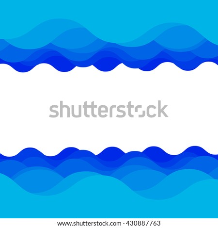 Water wave design over blue background, Vector