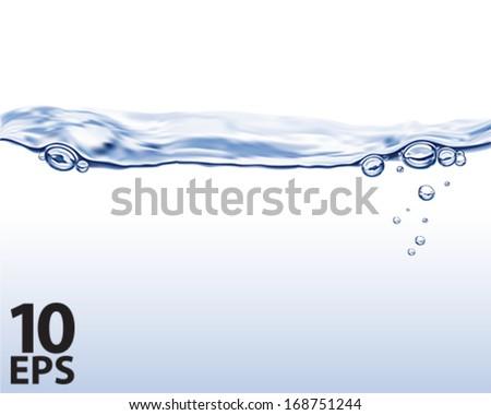 Water wave. Vector illustration - stock vector