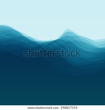 Water Wave. Vector Illustration For Your Design. Flowing Background With Halftone. Can Be Used For Banner, Flyer, Book Cover, Poster, Web Banners. - stock vector
