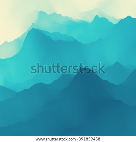 Water Wave. Water Surface. Nature background. Modern pattern. Vector Illustration For Your Design. Flowing Background With Halftone. - stock vector