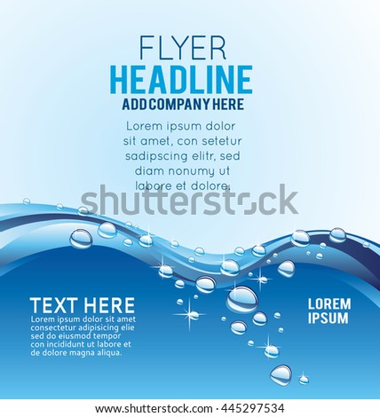 Water wave with bubbles, illustration - stock vector