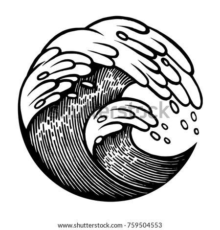 Water Waves Water Sacred Geometry Frame Tattoo Stock Vector ...
