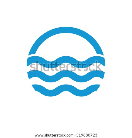 water waves logo sea flowing sign stock vector hd royalty free rh shutterstock com