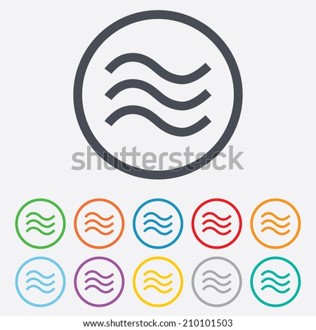 Wave Icon Stock Images Royalty Free Images Vectors