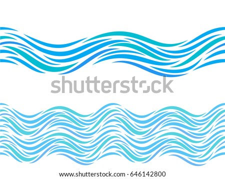 water waves vector seamless pattern ornament stock vector royalty rh shutterstock com wavevector spectrum wave vector space