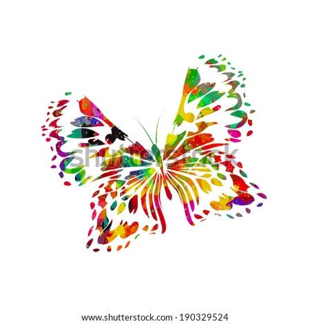 Abstract Butterfly Watercolor Watercolor Abstract Butterfly