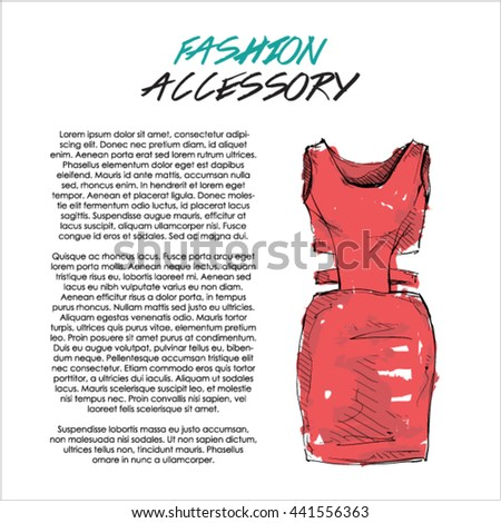 Watercolor accessory. Ladies clothing. Vector.