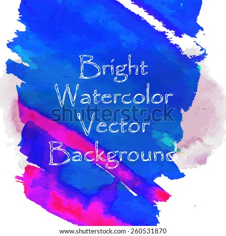 Watercolor artistic background, illustration made in vector. - stock vector