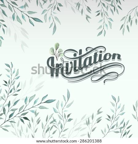 Watercolor background - stock vector