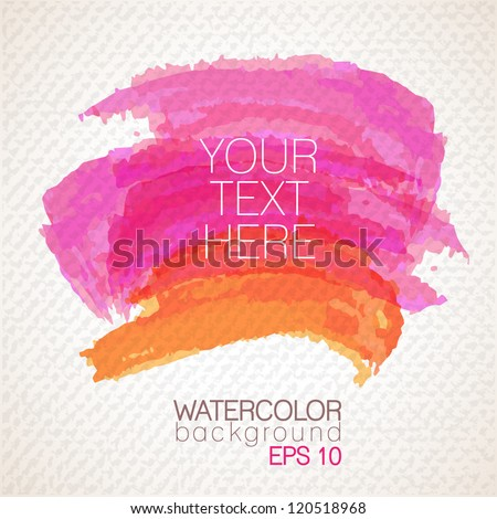 Watercolor banner - vector illustration. - stock vector