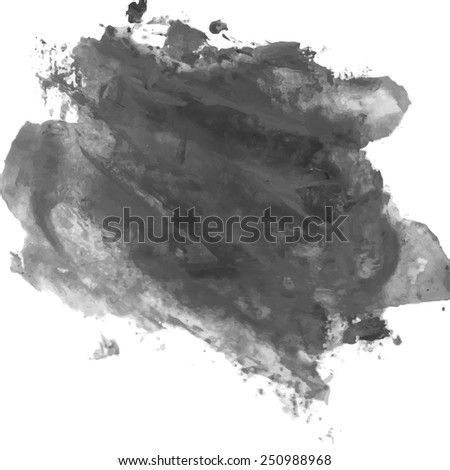 Watercolor black and white backgrounds. Vector illustration. - stock vector