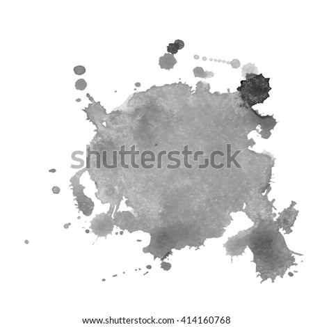 Watercolor black and white backgrounds. Vector illustration.