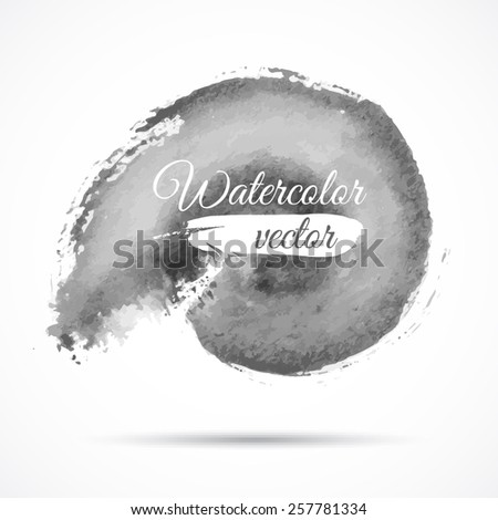 Watercolor black banner with space for your text. - stock vector