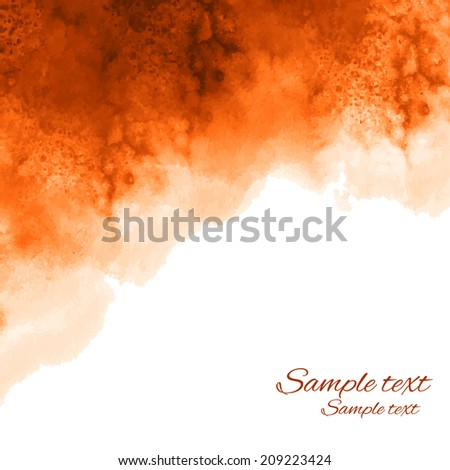 Watercolor coffee background texture with space for text - vector  - stock vector