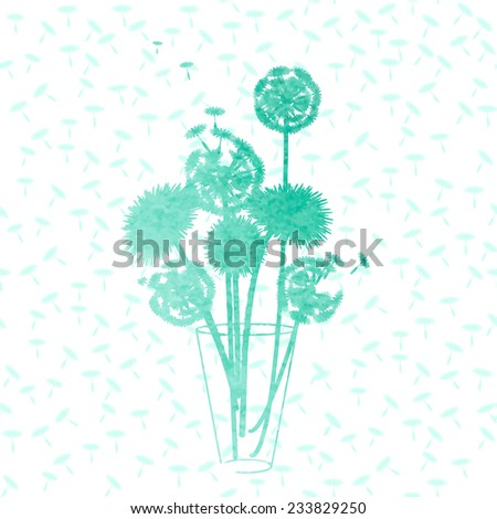watercolor dandelion background