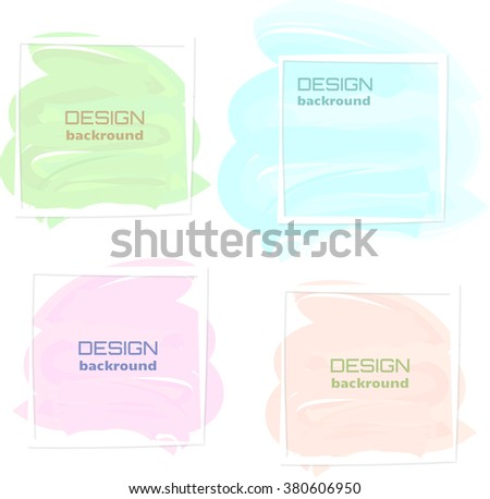 Watercolor design backgrounds with frame