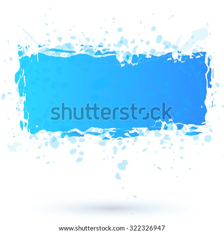 Watercolor design blue elements. Vector illustration