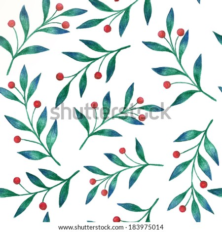 Watercolor floral background  - stock vector