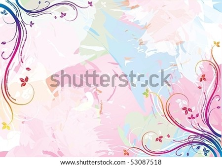 Watercolor floral background, eps10 vector illustration