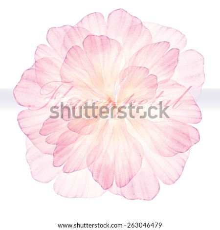 Vectorized stock vector 2018 263046479 shutterstock watercolor floral round patterns pink flower vectorized watercolor drawing mightylinksfo Images
