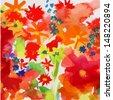 Watercolor flower background - stock