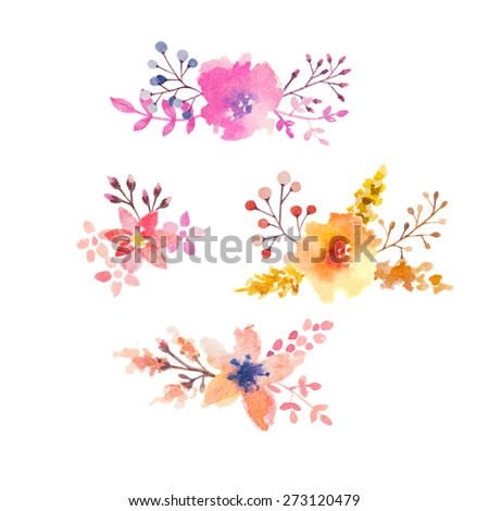 Watercolor Flower Elements Invitation Card Design Vector – Designing an Invitation Card