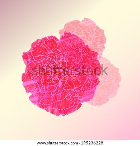 watercolor flower vector ,Eps 10 - stock vector